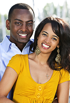 Couple With Bright Smile in Virginia Beach